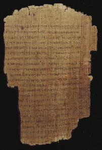 The Letter to the Romans Greek text on papyrus c.AD 180-200 Egypt CB BP II (P46) f.11r