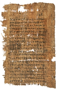 A Fragment of The Gospel of Thomas in Greek (P. Oxyrhynchus 1, found in 1897)