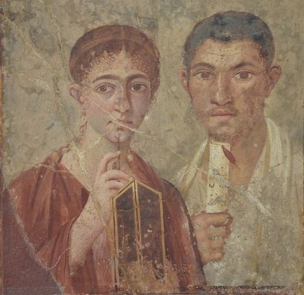 Fresco_showing_the_baker_Terentius_Neo_and_his_wife,_from_Pompeii,_House_of_Terentius,_Naples_National_Archaeological_Museum_(14655900927)