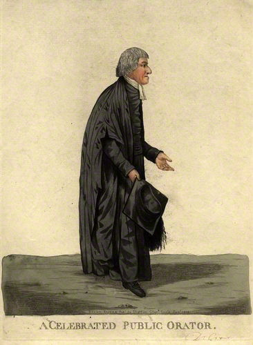 NPG D9432; William Crowe ('A celebrated public orator') by and published by Robert Dighton