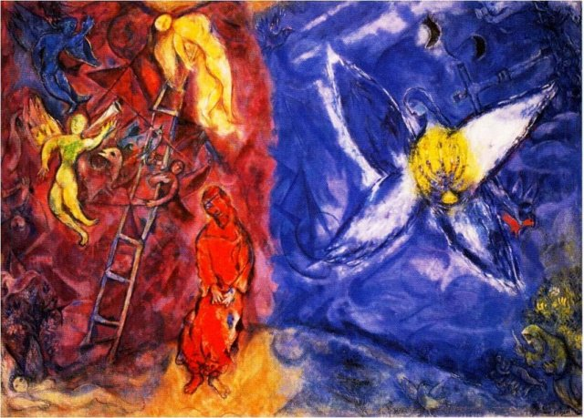 Marc-Chagall-Russia-1887-France-1985-The-Dream-of-Jacob-1960-1966-Oil-on-canvas